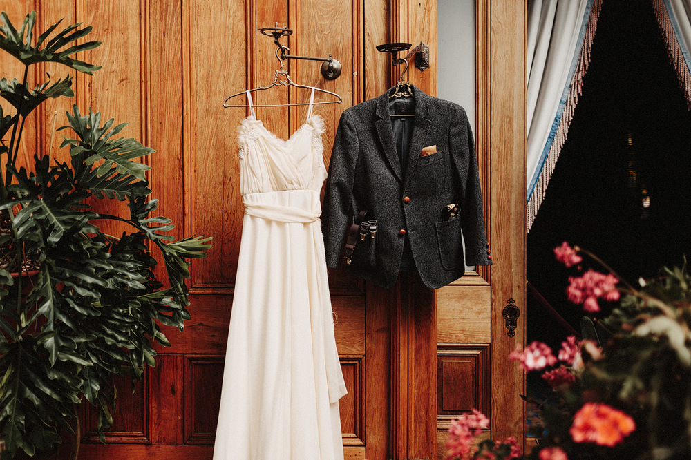 classic wedding dress and groom suit rocky mountain colorado pho