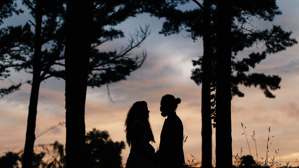 silhoutte ozark missouri bridal wedding portrait