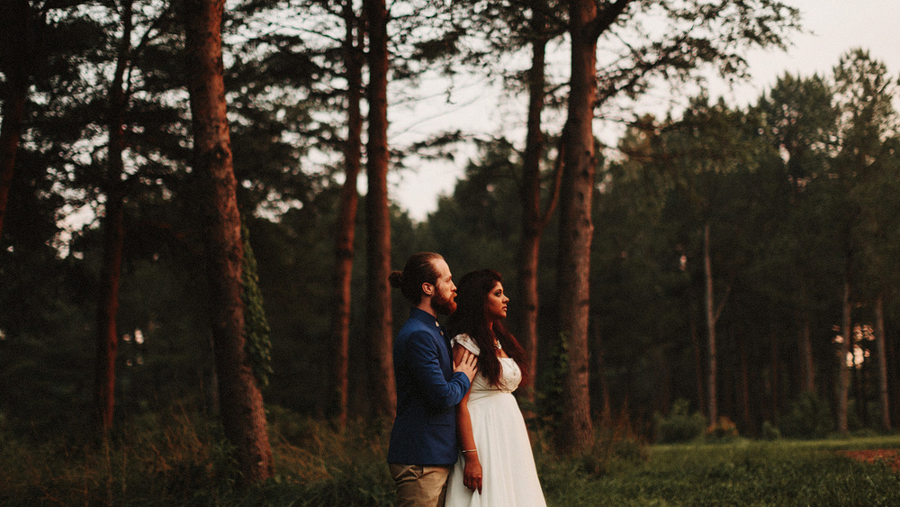 sunset ozark missouri bridal wedding portrait