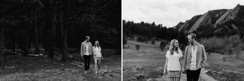 boulder colorado creative couple engagement portraits