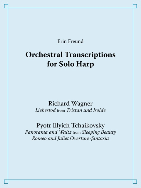 Collection of Romantic transcriptions, with unabridged concert solos.  The collection includes Wagner's  Liebestod  from  ristan und Isolde,  Tchaikovsky's  Panorama  and  Waltz  from  Sleeping Beauty,  and Tchaikovsky's  Romeo and Juliet .       Printed copy:   $23.00  through  Amazon  and  Tropp Editions