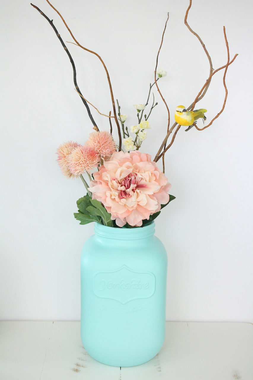 Painted Giant Mason Jar Vase