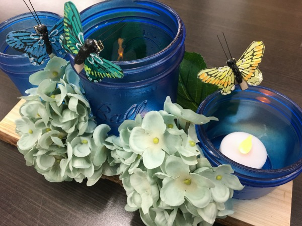Spring Mason Jar Floral Centerpiece
