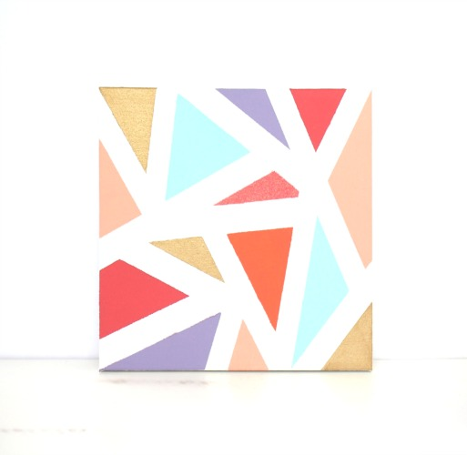 Masking Tape Canvas Art