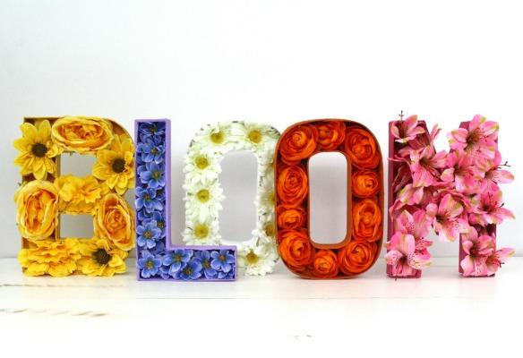 Bloom Floral Paper Mache Letters