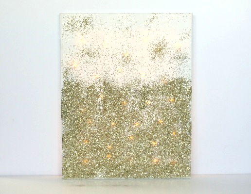 Canvas Art With Glitter
