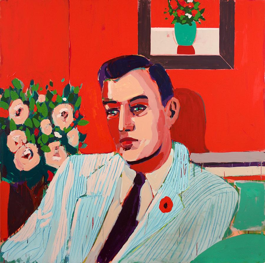 Man, Flower & Frame