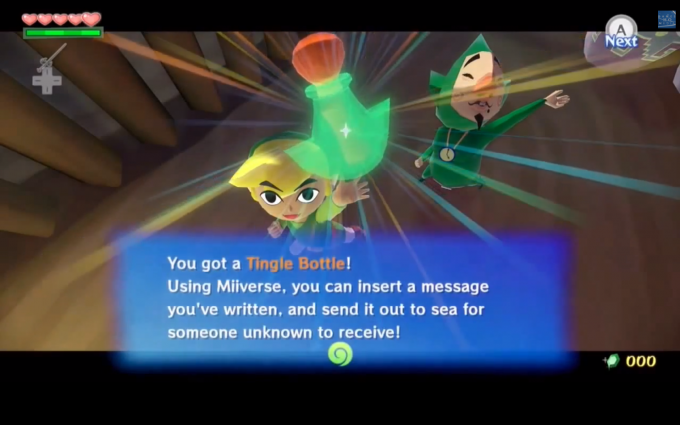 The Tingle Bottle that replaced the Tingle Tuner. Thanks for the image, Zelda Informer!