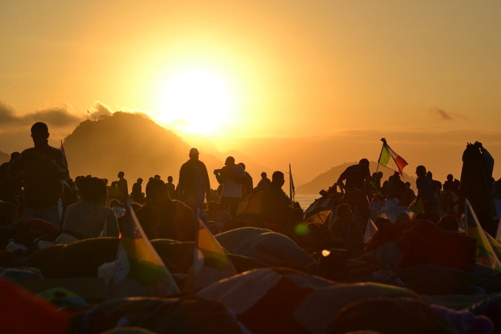 Dawn at Copacabana