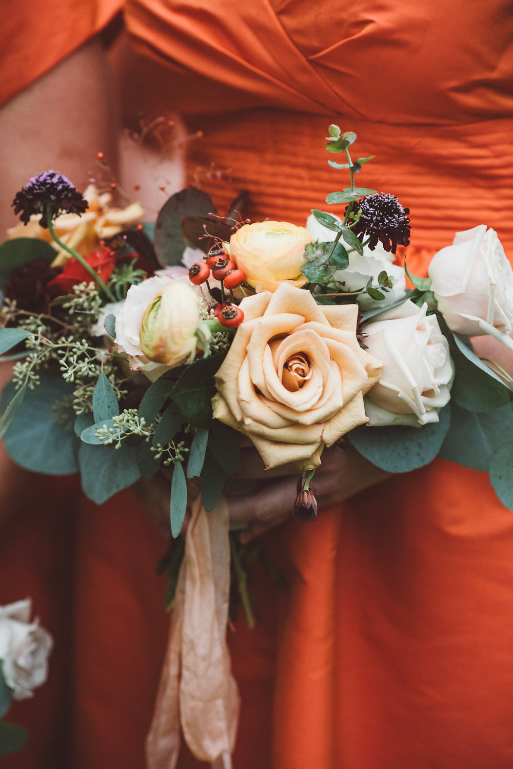 natural fall bridesmaid bouquet