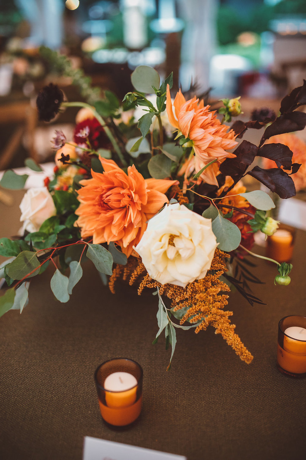 organic fall wedding flowers