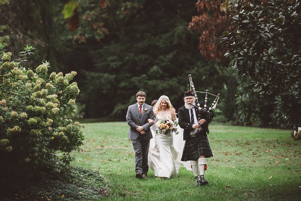 bagpipe wedding ceremony