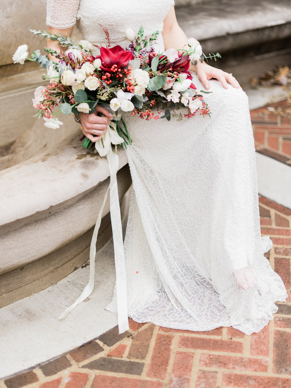 bohemian wedding flower bouquet