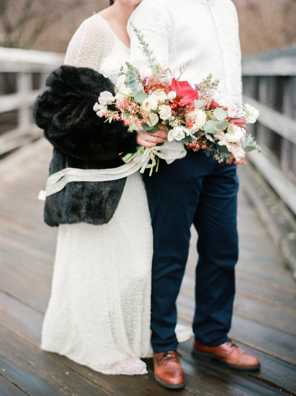 bridal fur capelet