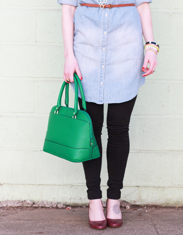 Denim + Green  • Let It Be Beautiful