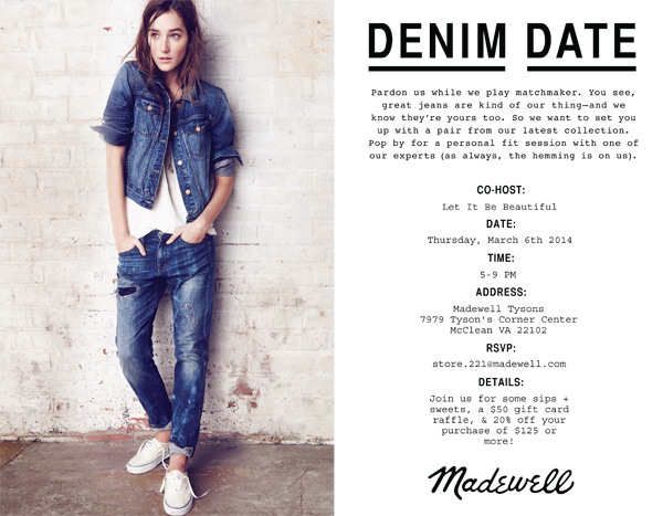 Madewell Denim Date at Tyson's Corner Mall