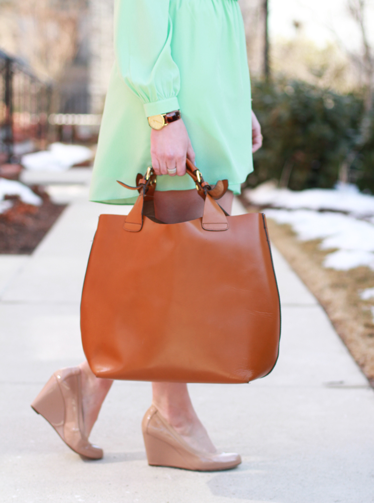 Zara Leather Shopper