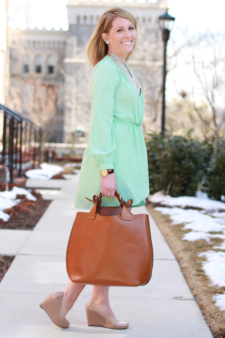 Mint Wrap Dress