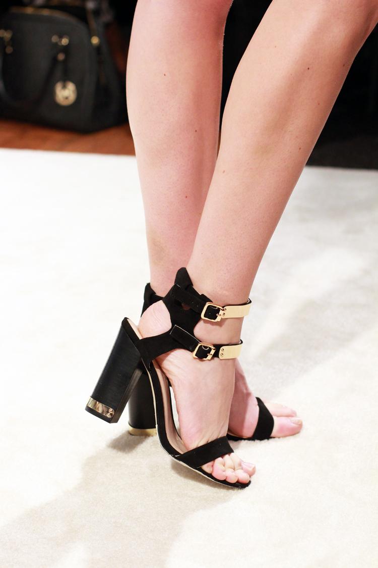 Black & Gold Heels