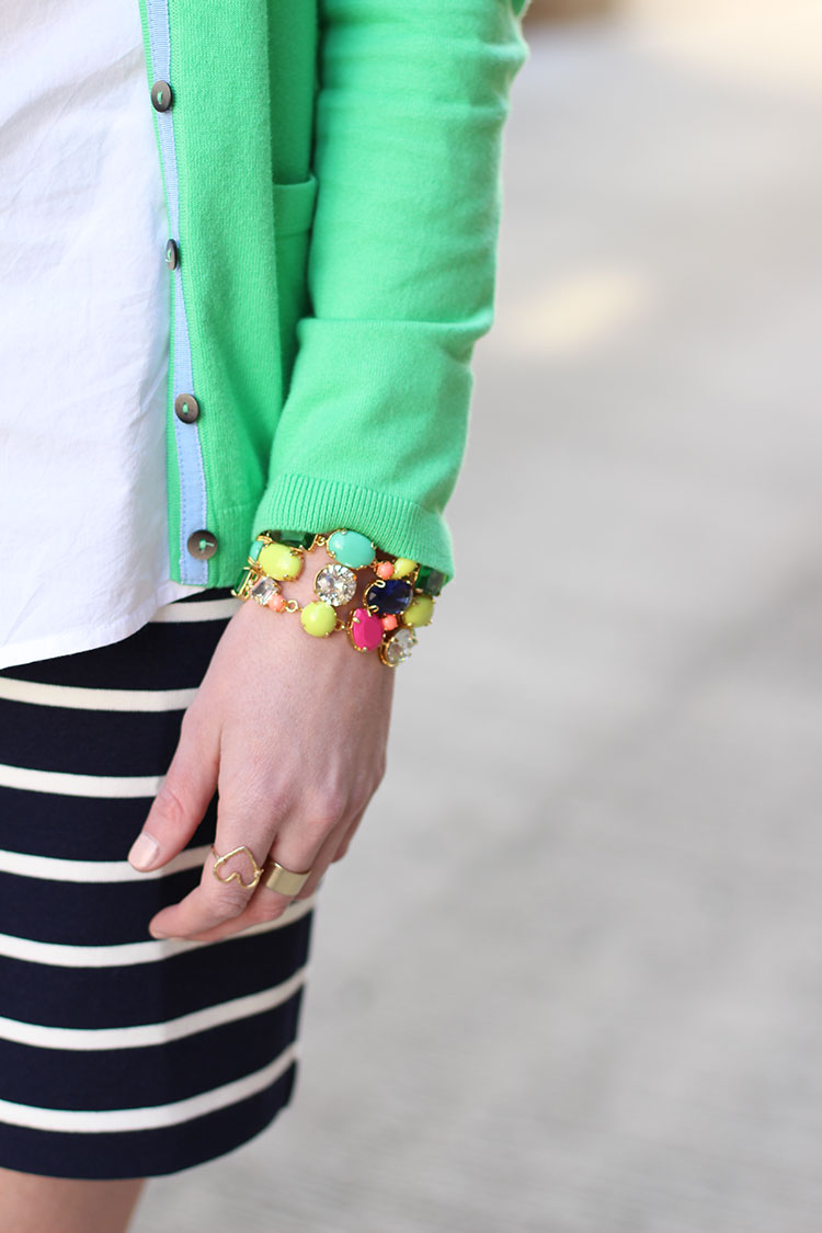Spring Outfit Idea: Green & Navy