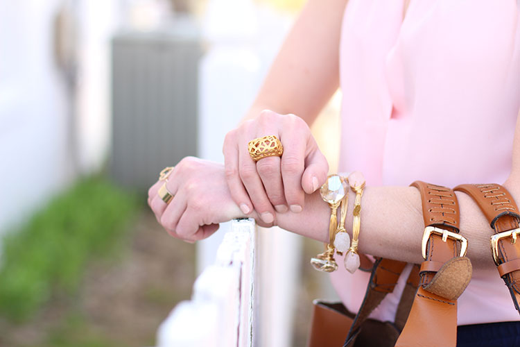 Spring Outfit Idea: Pink & Gold