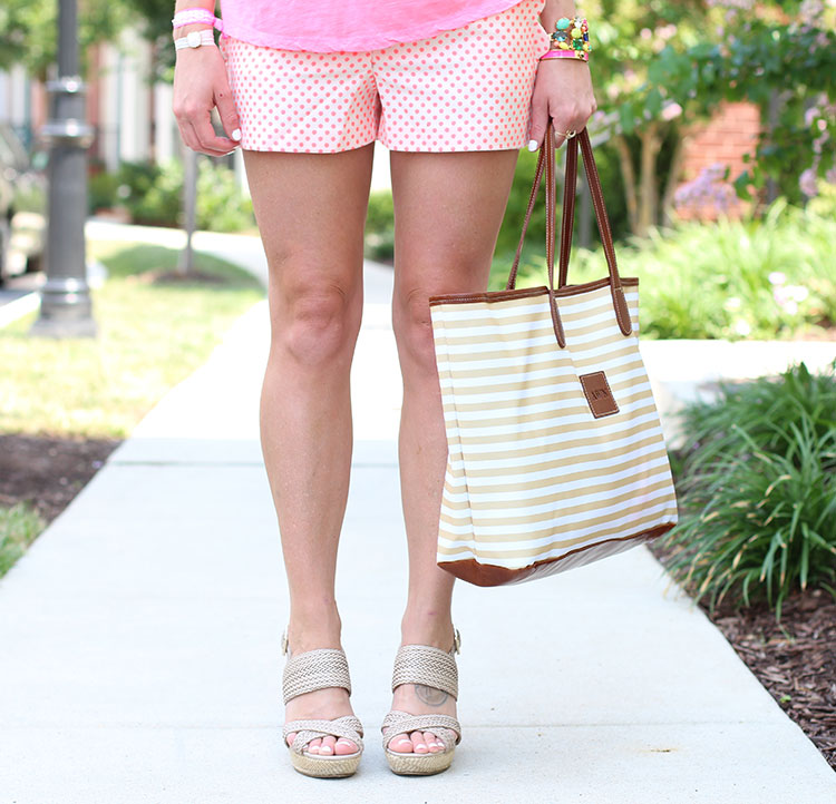 J.Crew Polka Dot Shorts & Sole Society Wedge Sandals