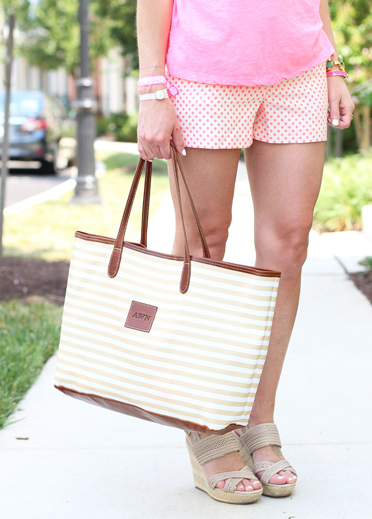 Barrington Striped Tote