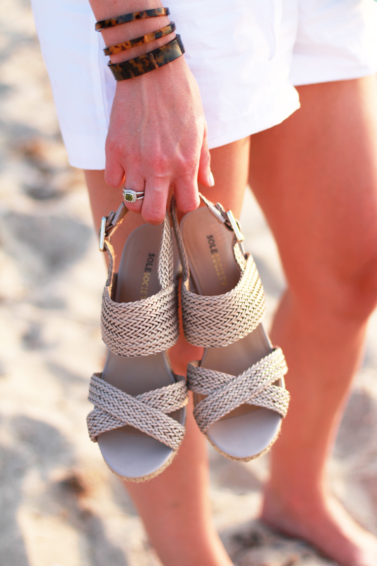 Sole Society Nude Wedges