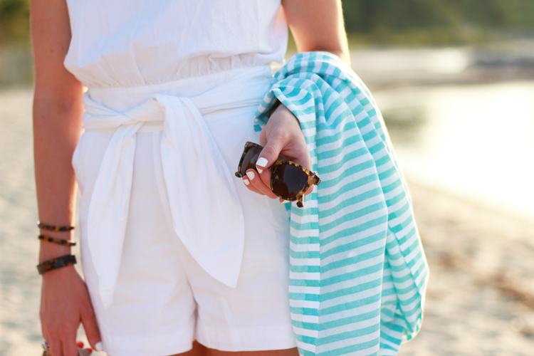 White Romper With Sash from Madewell