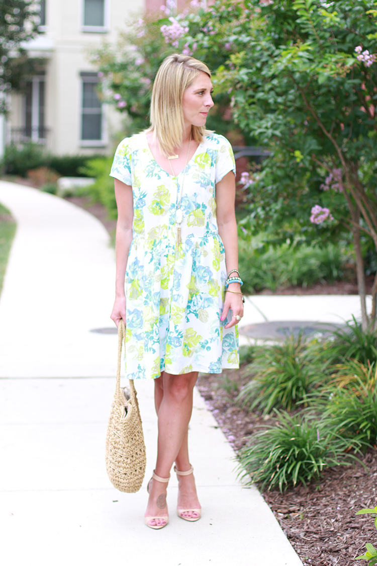 Floral Print Dress, Summer Outfit Idea