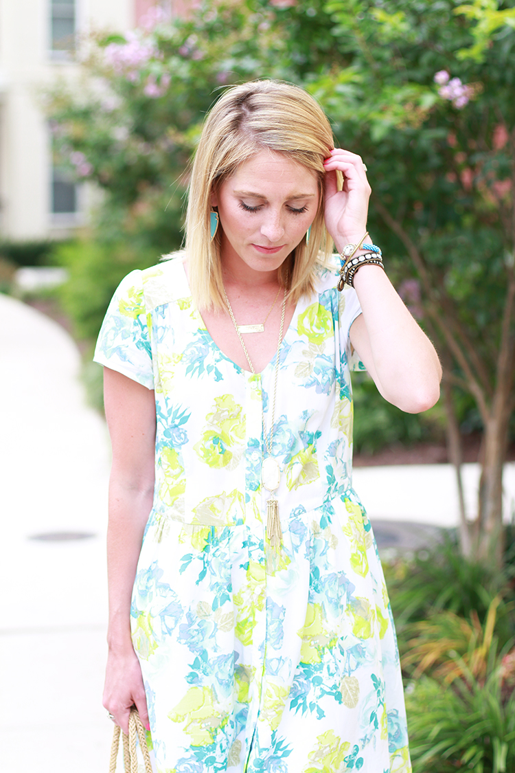 Little Floral Dress, Summer Outfit Idea