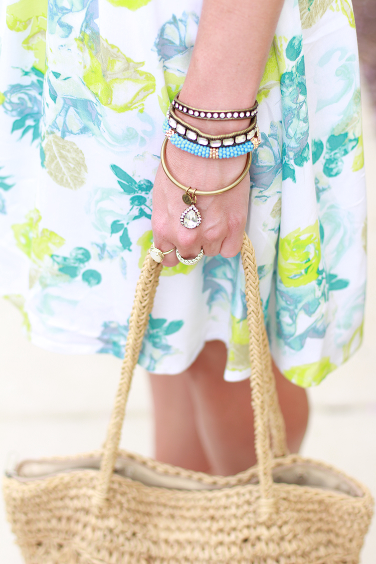 Bright Accessories, Rose Print Dress, Floral Print Dress