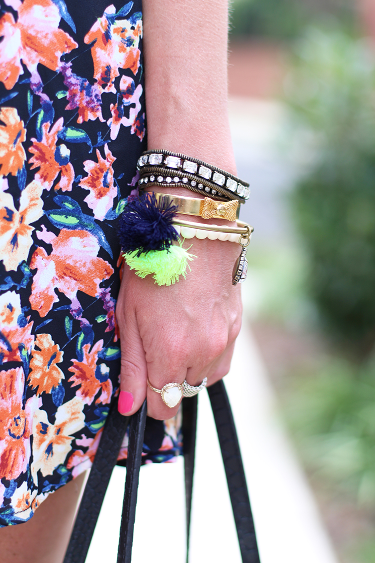 Sparkly Accessories, Floral Dress