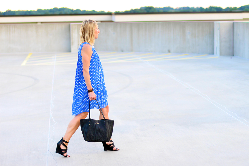Simple Summer Dress, Cobalt Blue Dress, Anthropologie Dress, Wedding Guest for Less