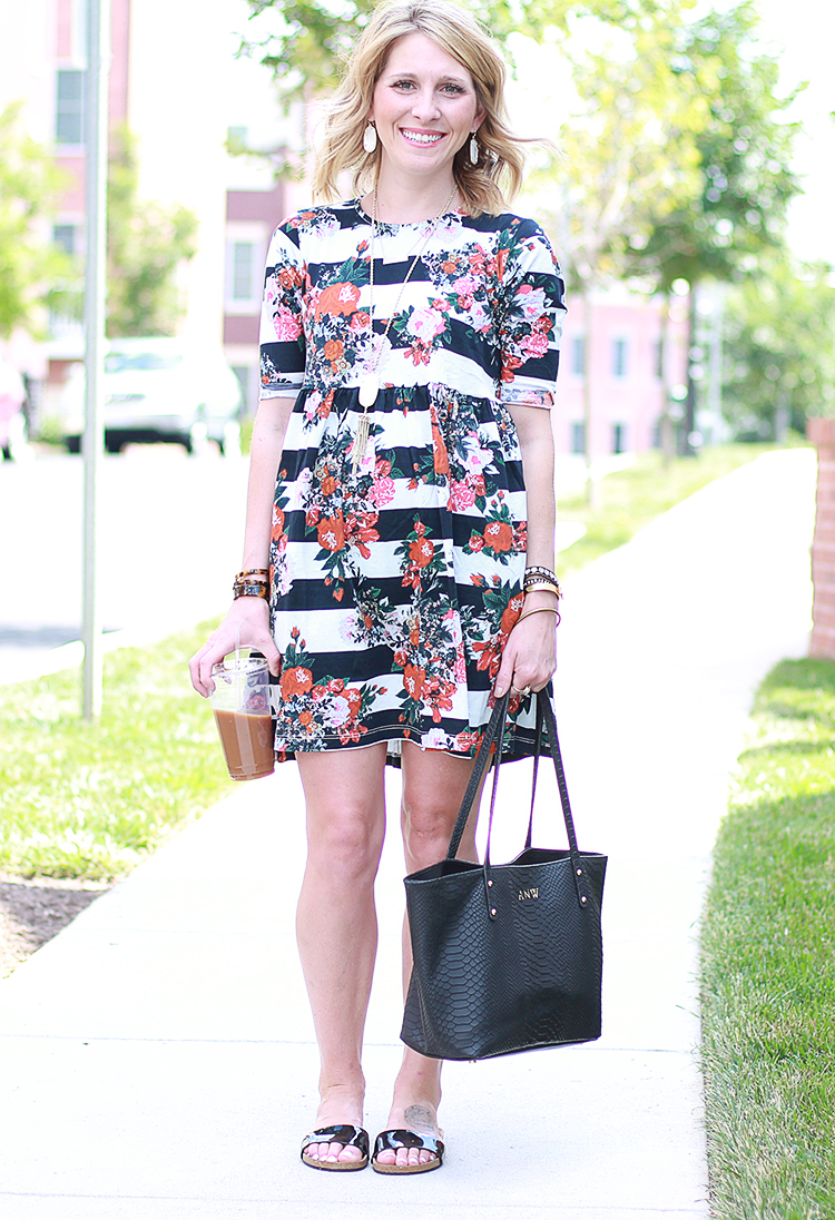 Floral + Stripe Dress, ASOS Smock Dress