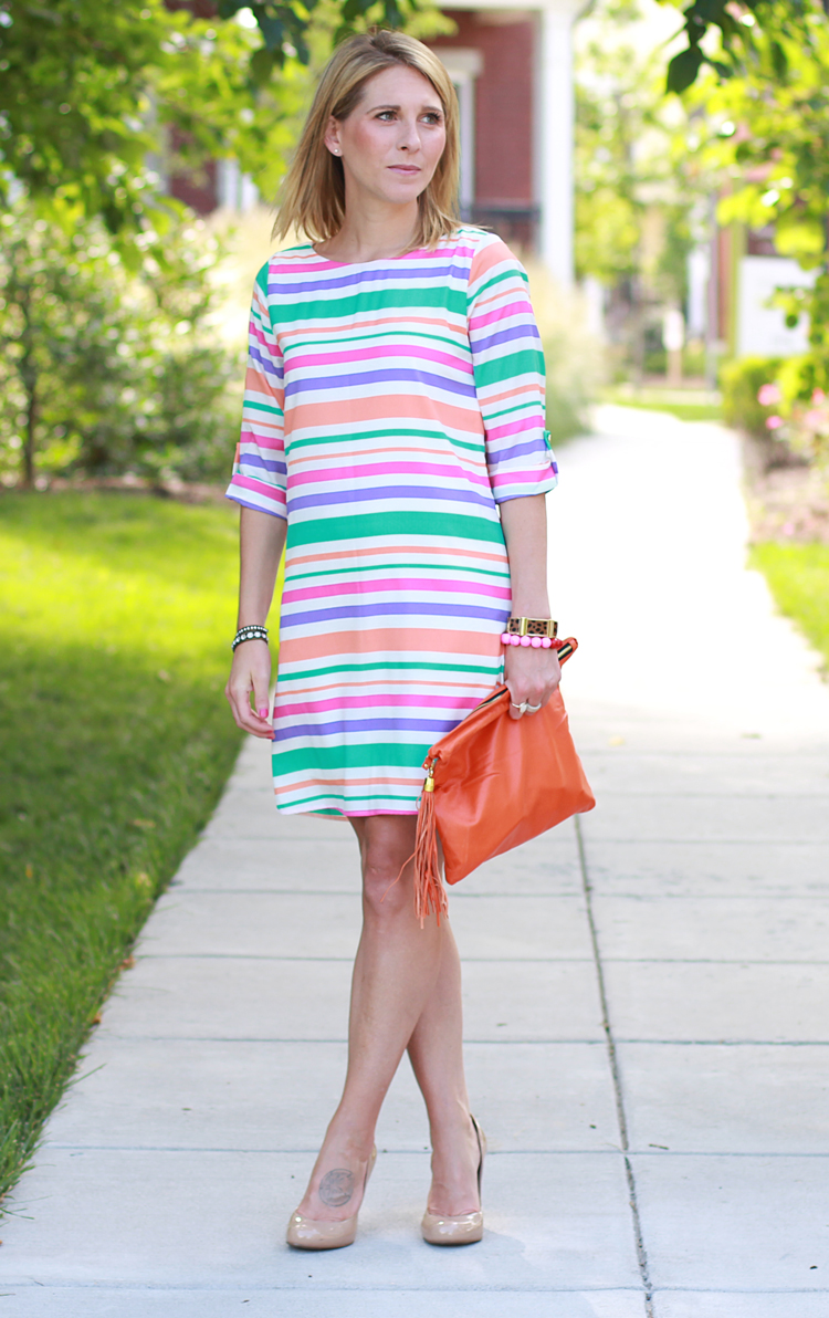 Striped Dress, Striped Shift Dress
