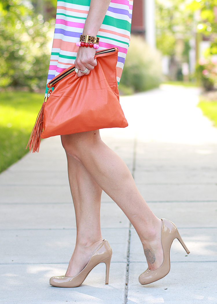 Brights and Neutrals, Striped Dress