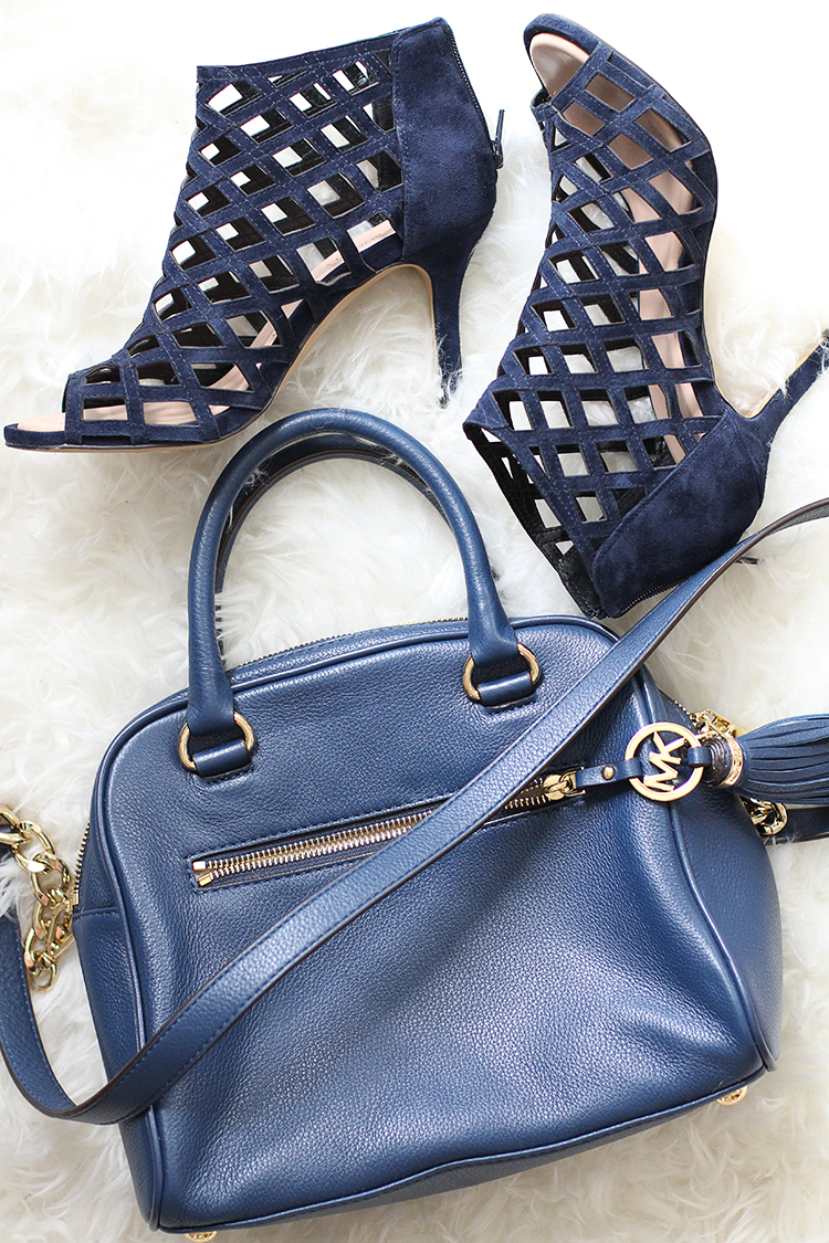 Navy Sole Society Heels, Michael Kors Navy Bag