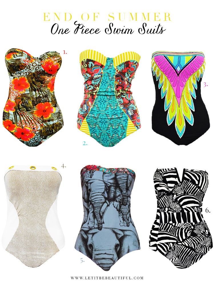 Designer One-Piece Swim Suits, Swimwear