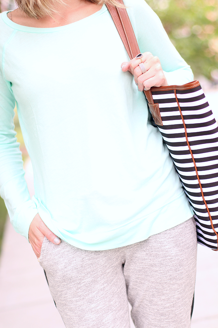 Weekend Casual Outfit, Pastel & Grey