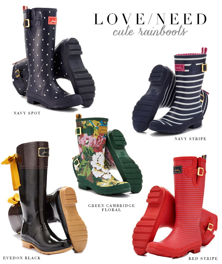 Cute Rainboots for Fall, Cute Wellies