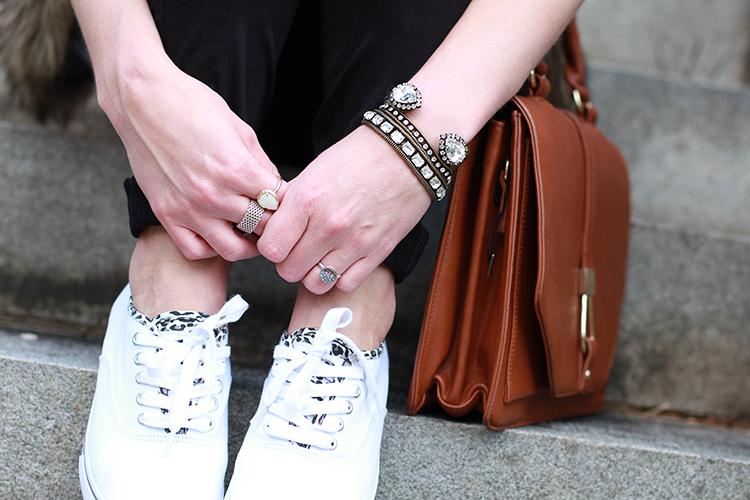 White Cheetah Print Sneakers, Loren Hope Jewels