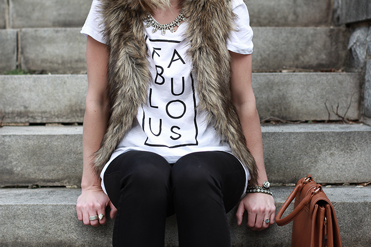 Faux Fur Vest, How To Style A Graphic Tee