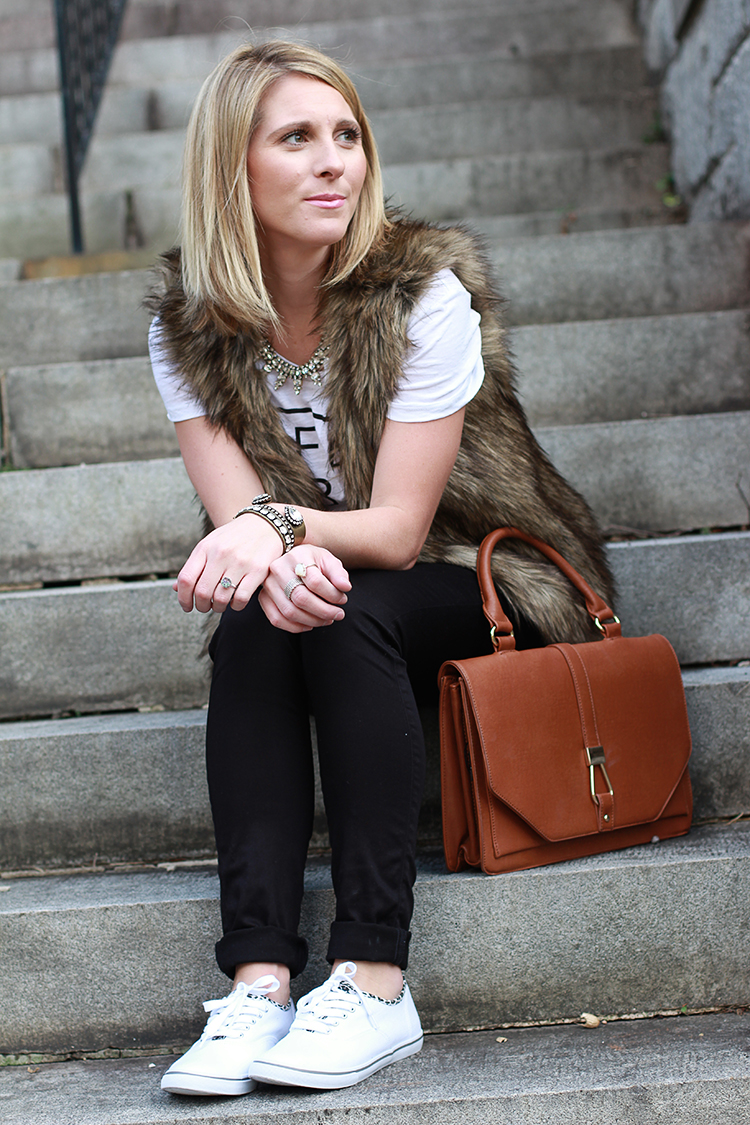 Fall Casual, Faux Fur Vest