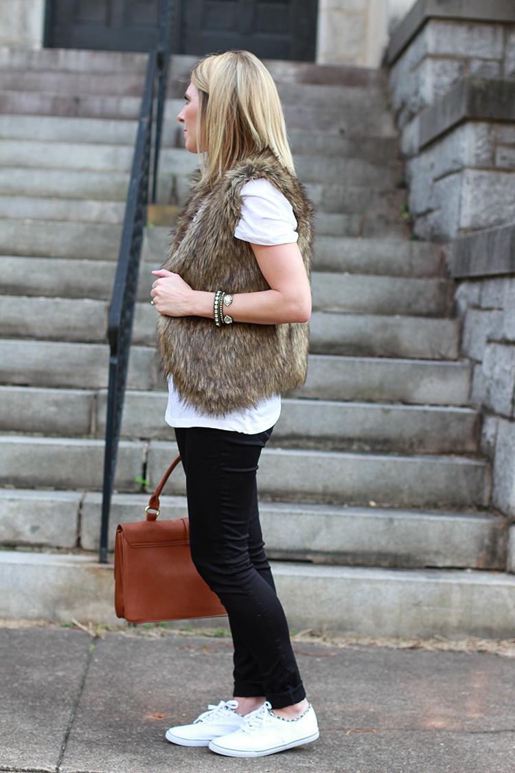 Weekend Wear, Faux Fur Vest