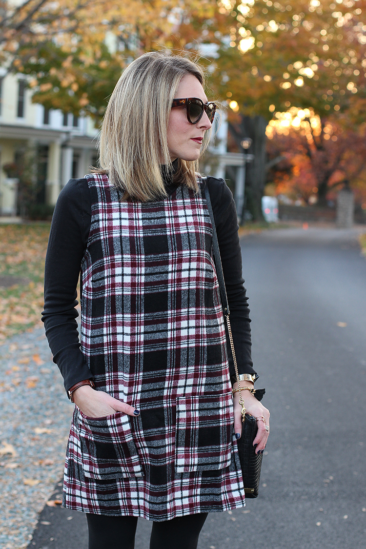 Plaid, Dress, Black Booties, Mad About Plaid