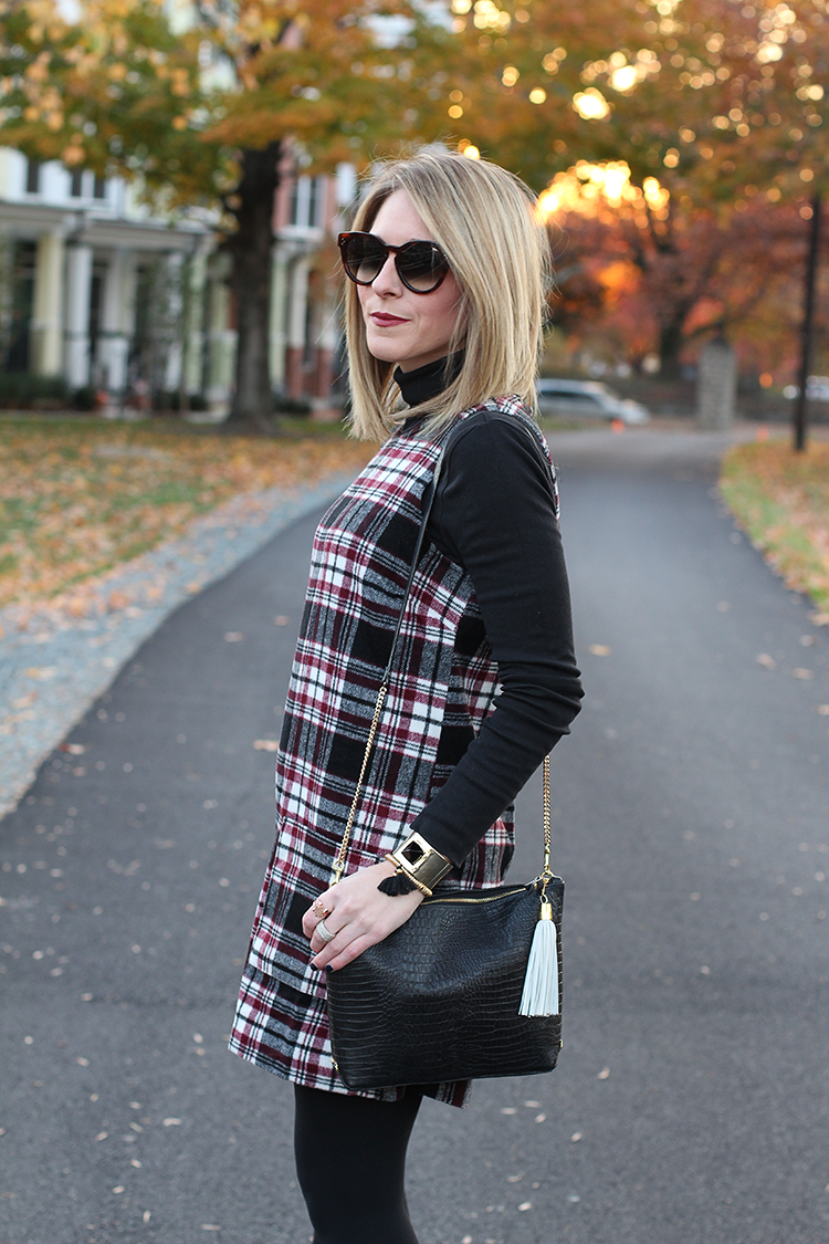 Fall Shift Dress, Forever 21 Plaid Dress, Plaid Dress