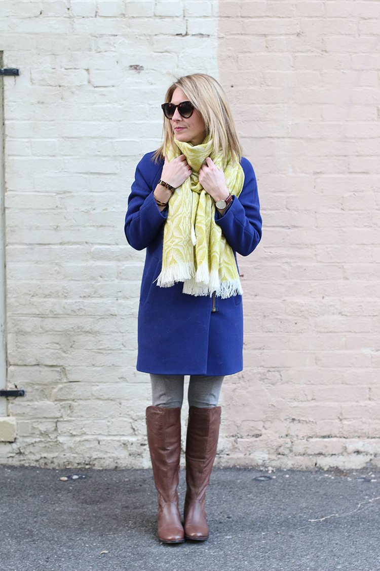 Cobalt Blue Jacket, Winter Brights