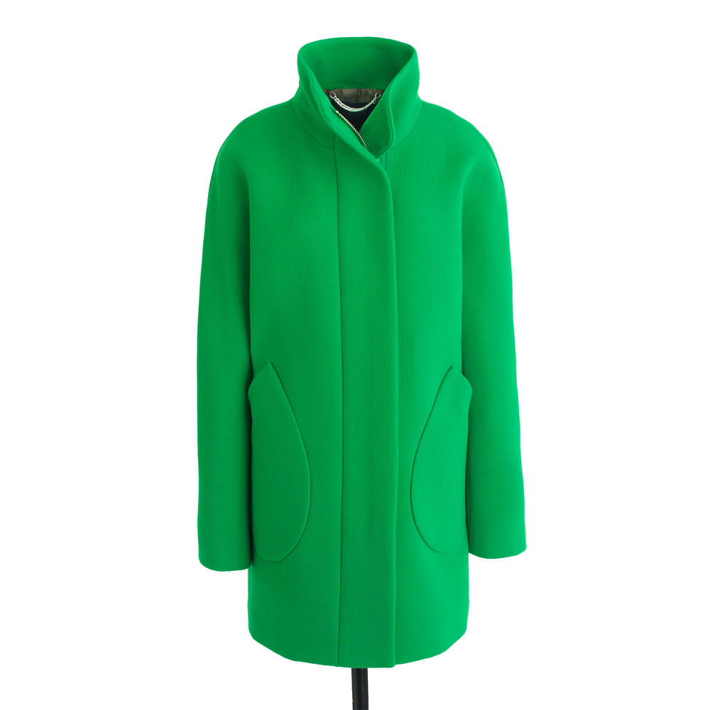 Patch-Pocket Cocoon Coat