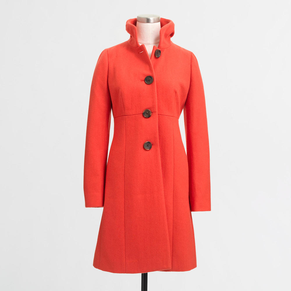 Ruffle-Collar Dress Coat